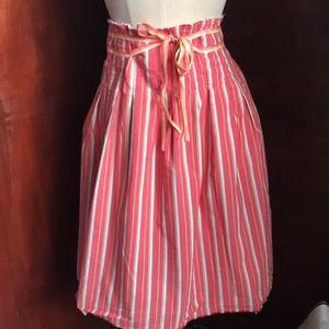Old Navy skirt multi color raw edge for women